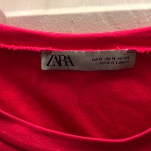Zara Dresses - Zara bondage material super thick hot pink dress